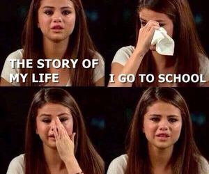 school, selena gomez, and funny image
