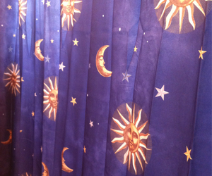blue, sun, and curtains image