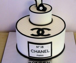 chanel, cake, and birthday image