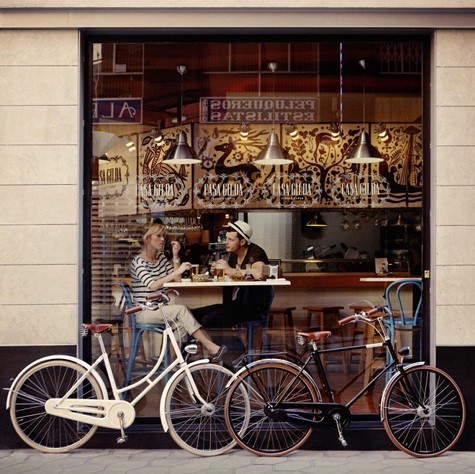 bike, couple, and bicycle image