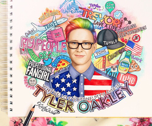 tyler oakley, drawing, and youtube image