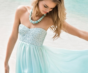 blonde, blue, and dress image