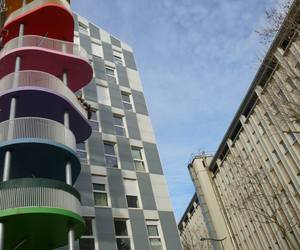 architecture, immeuble, and couleurs image