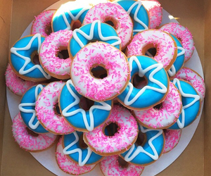 donuts, blue, and food image