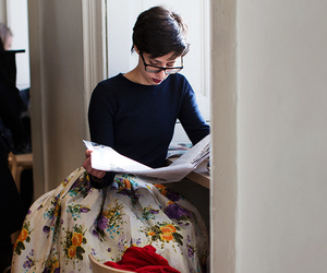 skirt, book, and reading image