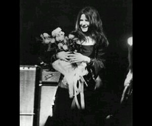 flowers and janis joplin image