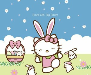easter, hello kitty, and Pascua image