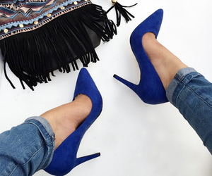 blue, heels, and high heels image