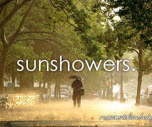 things and sunshowers image