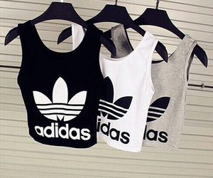 adidas, top, and workout image