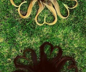 friendship, hair, and friends image