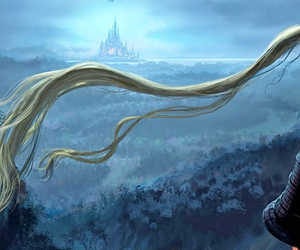 concept art, night, and rapunzel image
