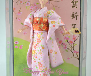 asian, barbie, and cherry blossoms image