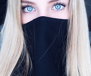 eyes, blue, and blonde image