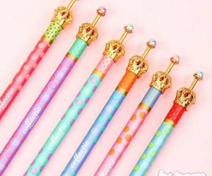 kawaii, pens, and school supplies image
