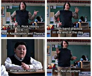school of rock, math, and rock image
