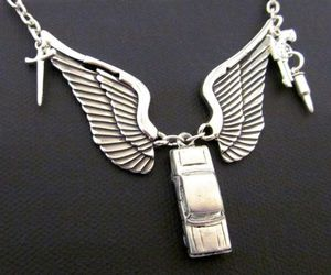 angel, necklace, and supernatural image