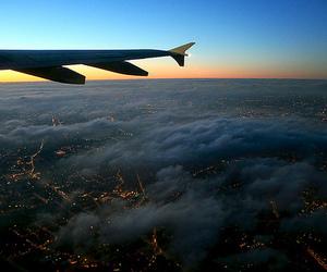 airplane, natureza, and photography image