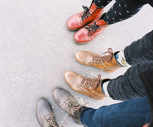 vintage, boots, and grunge image