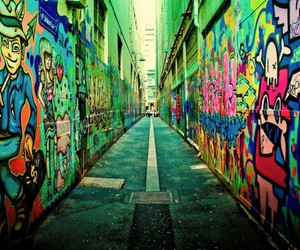 graffiti, colorful, and street image