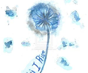 blue, dandelion, and watercolors image