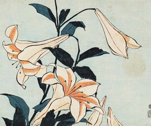 art, flower, and flowers image