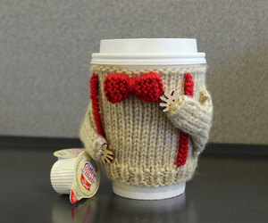 doctor who, red bow, and coffee cozy image