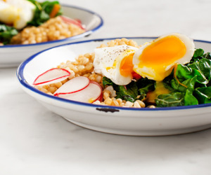 egg, food, and greens image