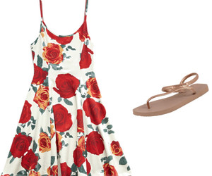 dress, outfit, and rose image