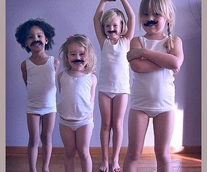 moustache, girl, and cute image