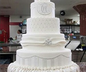 cake, white, and wedding image