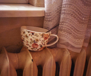 cup, vintage, and tea image