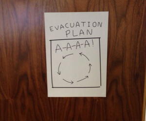 funny, humor, and evacuation plan image
