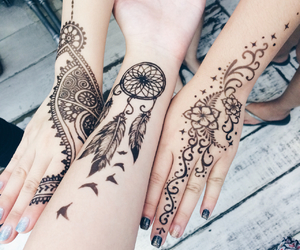 henna and dreamcatcher image