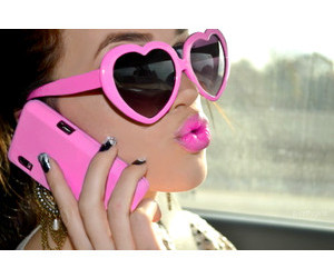 pink, lips, and style image