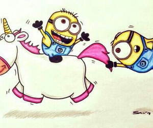 minions and unicorn image