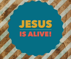 alive, easter, and risen image