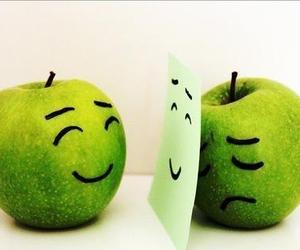 apple, sad, and happy image