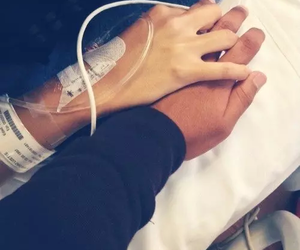 love, couple, and hospital image