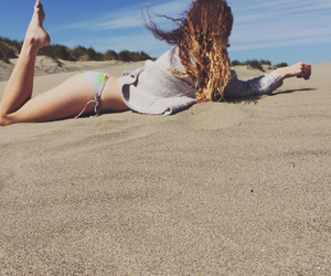 beach, hair, and ombre image