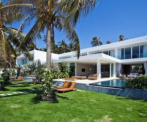 house, design, and pool image