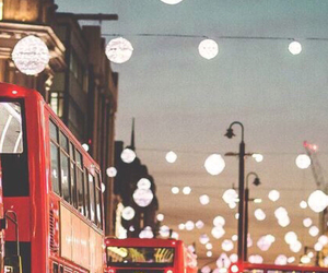 london, lights, and bus image