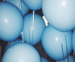 balloon, balloons, and blue image