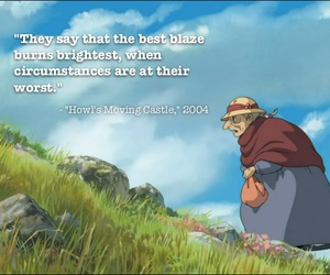 howl's moving castle, quote, and anime image