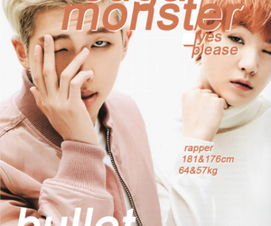 suga, bts, and rap monster image