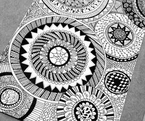drawing, circle, and doodles image