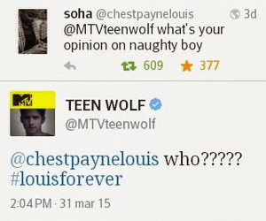 twitter, teen wolf, and louis tomlinson image