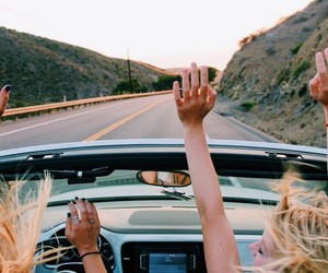 friends, car, and summer image