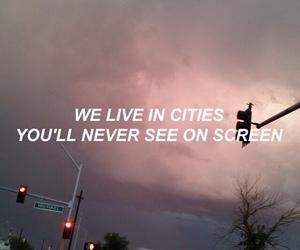 city, grunge, and Lyrics image