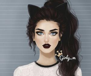 black, fashion, and cat image